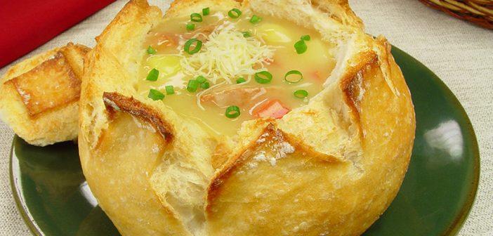 Sopa de costelinha com mandioca